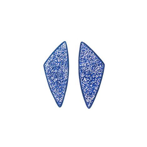 blue polymer clay modern earrings