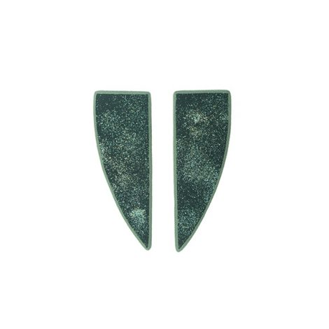 polymer clay handmade green stud fashion earrings