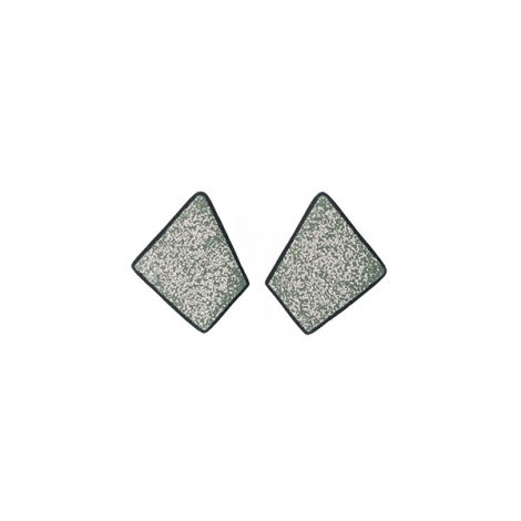 LimeLight by Katerina Sfinari green geometric earrings