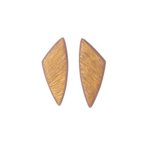 polymer clay geometrical stud earrings