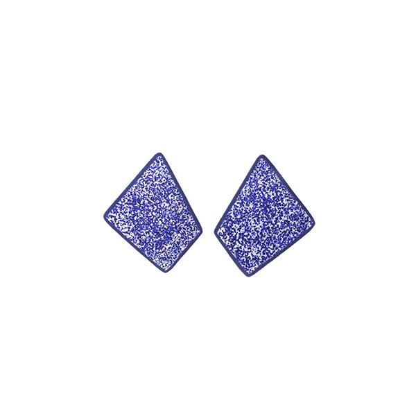 Χειροποίητα σκουλαρίκια Shield από πολυμερή πηλό | χειροποίητο κόσμημα Limelight by katerina sfinari