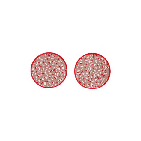 fashion statement contemporary red earrings