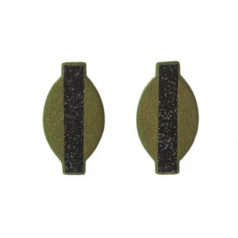 fashionable minimal olive earrings