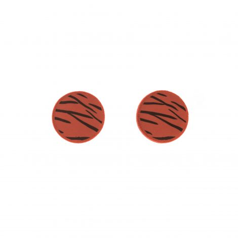 polymer clay terracotta animal print earrings