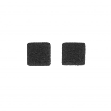 handmade polymer clay minimal black earrings