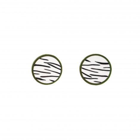 LimeLight by Katerina Sfinari zebra earrings