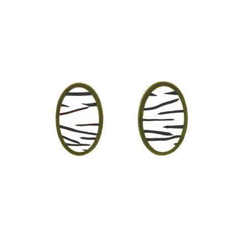 LimeLight by Katerina Sfinari zebra mini stud earrings