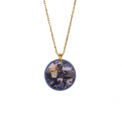 contemporary minimal blue necklace