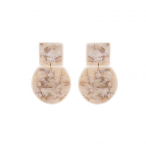 LimeLight by Katerina Sfinari contemporary white earrings