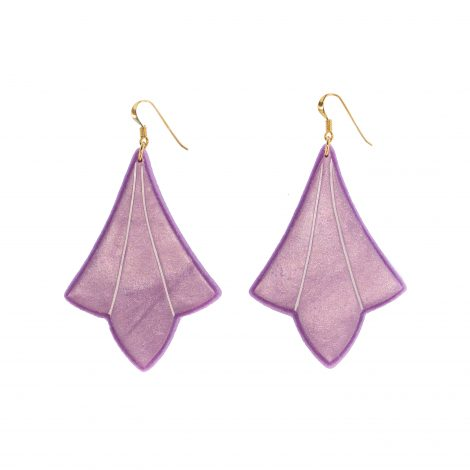 chic fashion polymer clay earrings