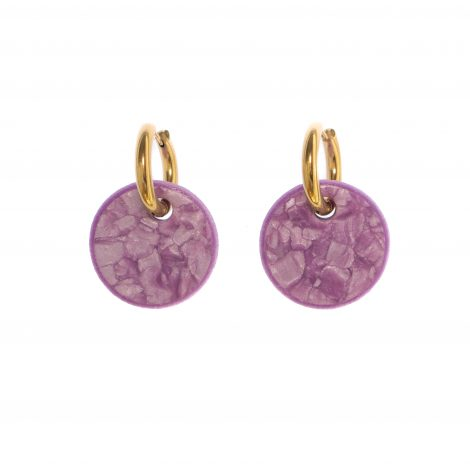 fashion statement polymer clay lilac earrings