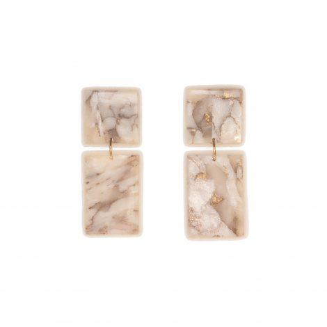geimetrical polymer clay modern earrings