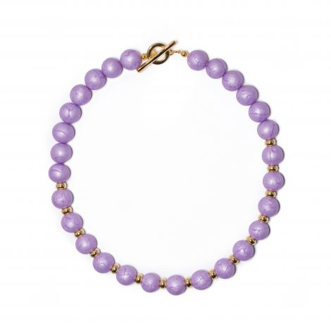 LimeLight by Katerina Sfinari lilac beaded necklace