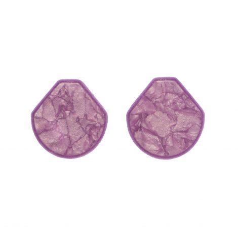 LimeLight by Katerina Sfinari lilac geometrical earrings