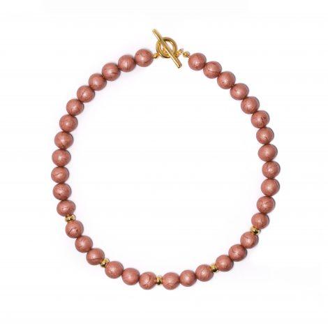 handmade modern polymer clay necklace