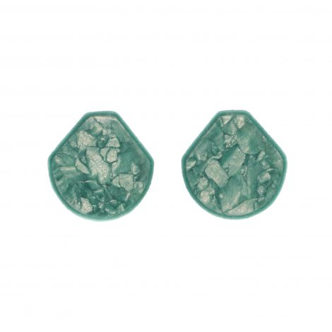 unique handcrafted polymer clay light green earrings